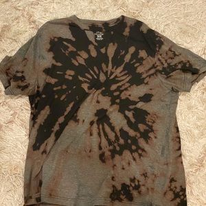 custom oversized black bleached t shirt